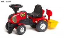 Ostrkovadlo červené + vozík s bábovkami
