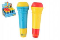 Mikrofón s ozvenou plast 15cm - mix farieb
