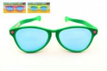 Brýle MAXI žertovné na kartě karneval - mix barev