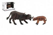 Zvieratká safari ZOO 12cm byvol plast