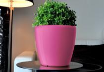 Samozavlažovací kvetináč GreenSun AQUAS priemer 22 cm, výška 21 cm, ružový