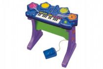 Piáno / klávesy s bubnami plast na batérie so zvukom