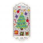 Dekorativní pěnové ozdoby stromek + dárky samolepící