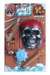 Pirátska sada maska, bambitka, palcát čo svieti v tme.