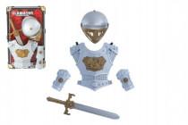 Sada rytíř meč přilba brnění 5ks plast na kartě