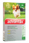 Advantix S.O. pes do 4kg a.u.v. zelený sol 1 x 0,4 ml
