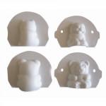 formička medvídek, kočička plastová (2ks)