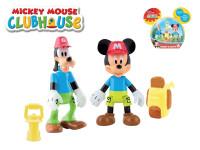 Mickey Mouse a Goofy figurky badatelů kloubové 8 cm 2 ks s doplňky