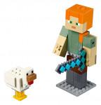 Lego Minecraft 21149 veľká figúrka: Alex s kuraťom