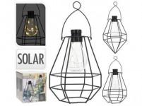 lampa solárne 8LED závesná kov ČER - mix variantov či farieb