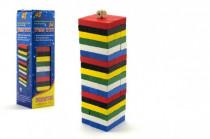 Hra Jenga věž 48 dílků dřevo v krabičce 22x6cm