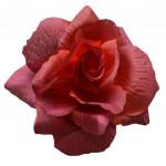Růže látková - tmavě červená - 24 ks