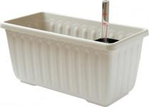 Plastia truhlík samozavlažovací Siesta LUX - slonová kosť 60 cm