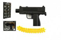 Pištoľ kov / plast 11cm na guličky mix druhov v krabičke 15x12cm - VÝPREDAJ