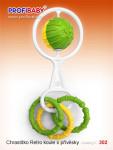 Hrkálka guľa s tvarmi plast priemer 5cm v sáčku 0m + - mix variantov či farieb
