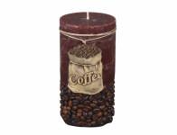 Sviečka COFFEE BAG VALEC rustikálny d7x14cm