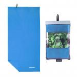 Spokey SIROCCO XL Rychleschnoucí ručník 85x150 cm, modrý s odnímatelnou sponou