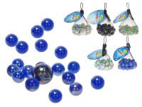 Kuličky skleněné 40x16 mm + 2x25 mm - mix variant či barev