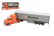 Kamión s kontajnerom plast 36cm na zotrvačník na batérie so svetlom so zvukom