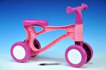 Odrážedlo Rolocykl růžový plast výška sedadla 26cm