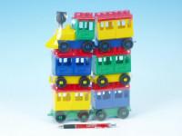 Stavebnica LORI 8 vlak + 5 vagónikov plast v sáčku