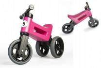 Odrážadlo ružové FUNNY WHEELS NEW SPORT 2v1 výška sedadla nastaviteľná 28 / 31cm nosnosť 50kg 18m +