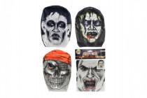 Maska látková v sáčku 18x26cm karneval - mix variantov či farieb