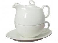 konvička + šálka a podšálka porcelán Bi TEA FOR ONE