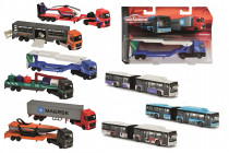 Autobus/Auto transportér kovový 20 cm - mix variant či barev
