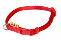 Obojok puppy nylon rozlišovaciu - červený B & F 1,00 x 20-35 cm