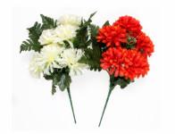 Chryzantéma X6 MIX + kapradí list 7 květů 36cm