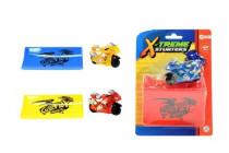 Motorka sportovní 6cm s rampou plast na setrvačník - mix variant či barev