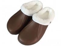 papuče gumové zimné pánske veľ. 42 (pár) - mix farieb