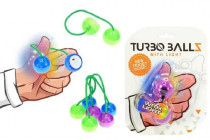 Fidget Turbo ballz plast na baterie se světlem na kartě 12x17cm - mix barev