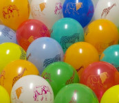 Balóniky zmes - zvieratká, color, okrúhle