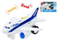 Lietadlo dopravnej 20 cm 1: 200 na zotrvačník na batérie so svetlom a zvukom - mix variantov či farieb