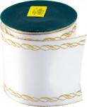 Stuha Smútočný saténová - 10 cm x 9,14 m biela