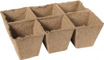 Rašelinový kontajner 8x8 cm - plató 6ks
