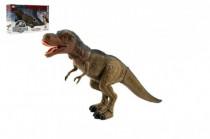 Dinosaurus tyranosaurus chodící plast 40cm na baterie se světlem se zvukem