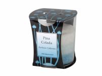 Sviečka v skle DUHA - PINA COLADA stearínová vonná
