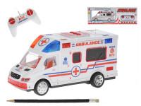 Ambulance RC plast 22cm 27MHz na baterie plná funkce se světlem a zvukem