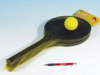 Soft tenis plast čierny + loptička 53cm