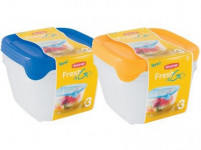 dóza FRESH & GO štvorcová 1,2l plastová (3ks)