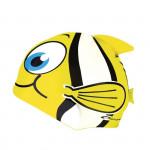 Spokey RYBKA MARLIN Detská plavecká čiapka žltá
