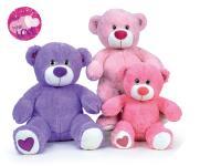 Medvedík plyšový 40 cm sediaci - mix farieb