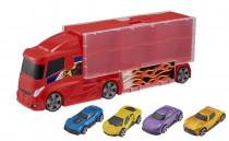 Teamsterz kufrík v dizajne nákladiaku so 4 autíčkami