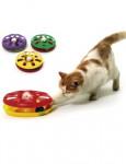 Hračka mačka Tanier plast obojstr. s loptičkou 24cm KAR1ks