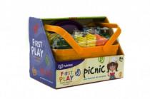 Zelenina a potraviny v košíku piknik plast