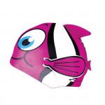 Spokey RYBKA MARLIN Detská plavecká čiapka ružová