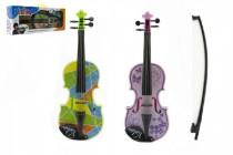 Husle / Viola plast 40cm na batérie so zvukom so svetlom - mix farieb
